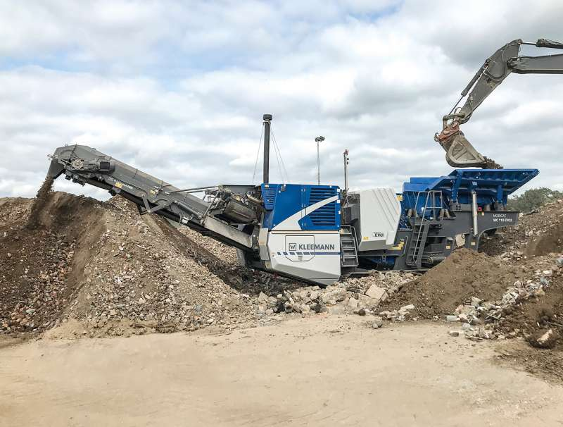 Kleemann MC 110(i) EVO2 mobile jaw crusher