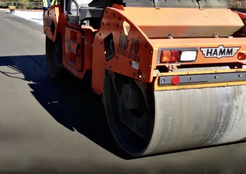 Roller-compacted concrete