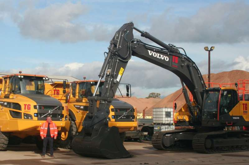 Volvo machines for Tudor Griffiths Group